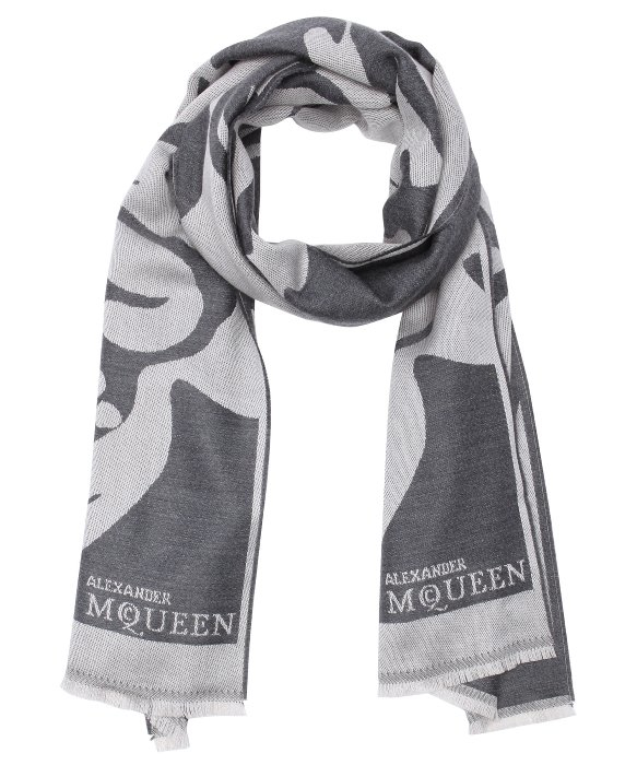 patterned scarf - Black Alexander McQueen DjQzSx