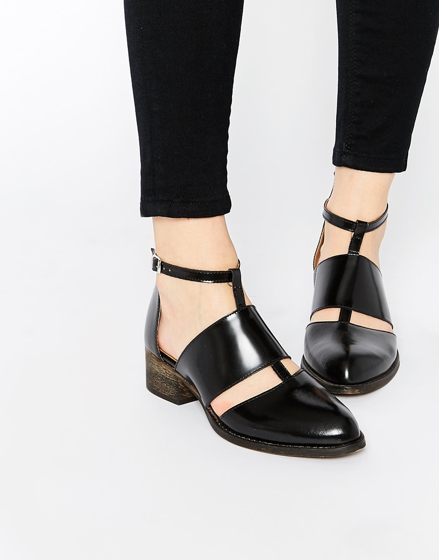 Warehouse Cut Out Ankle Boots in Black | Lyst