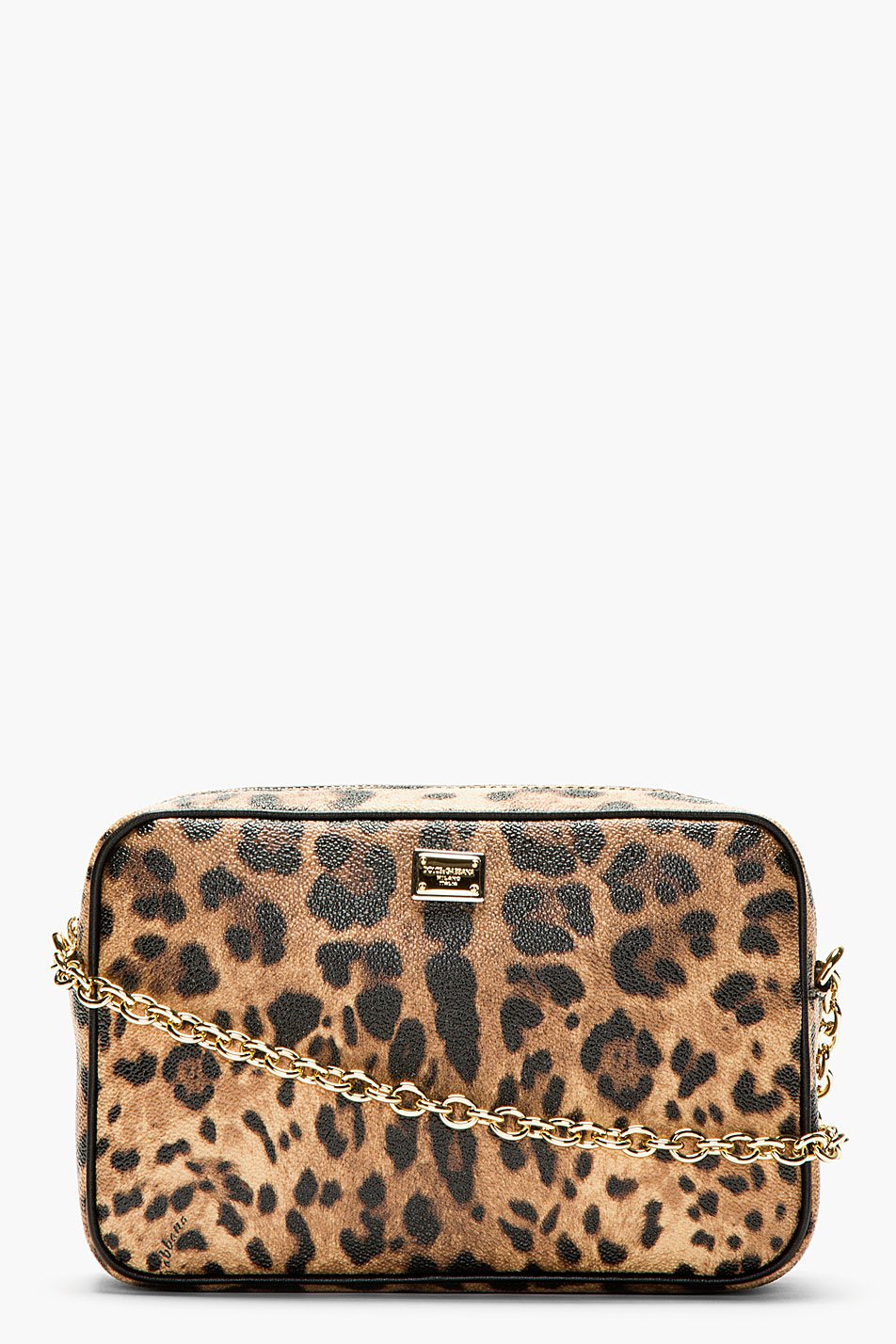dolce  u0026 gabbana leopard print crossbody bag