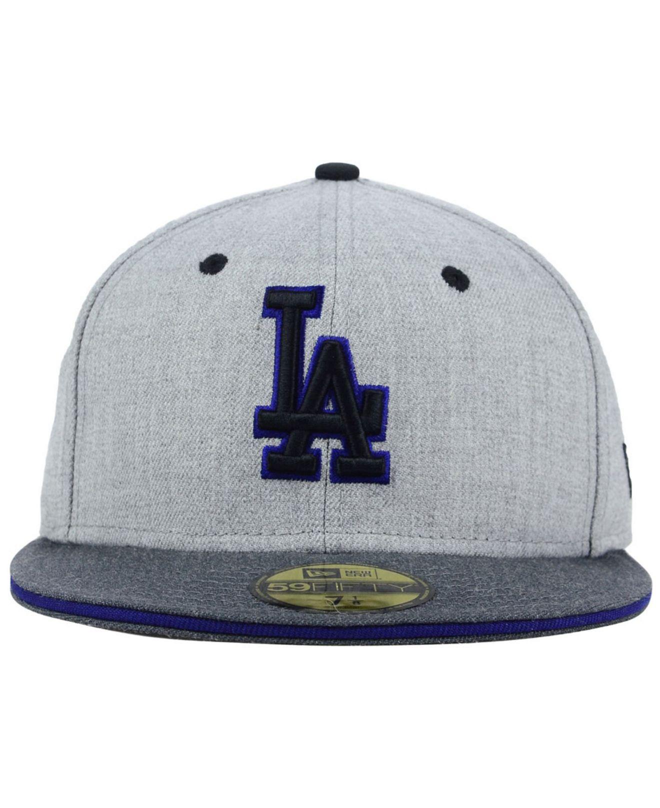 Lyst - KTZ Los Angeles Dodgers Heather Shadow 59fifty Cap in Gray for Men 990337d4bee
