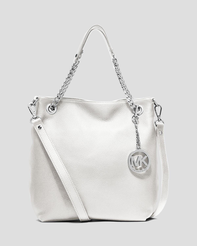 e004924b0090 Lyst - MICHAEL Michael Kors Shoulder Bag - Jet Set Chain Medium in White