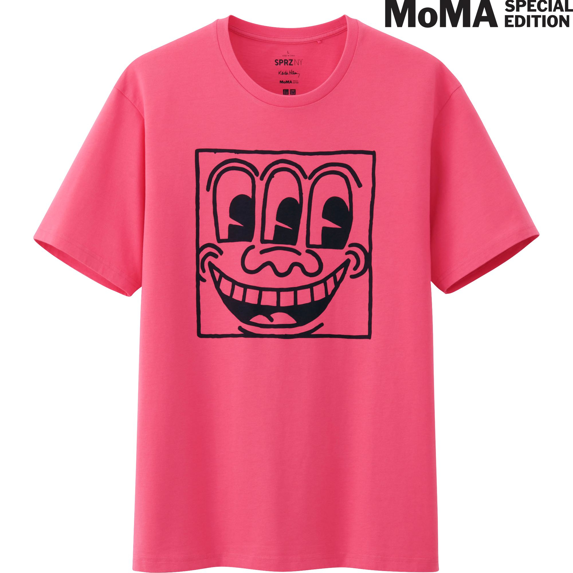 Uniqlo men sprz ny graphic short sleeve t shirt in pink for Uniqlo t shirt sizing