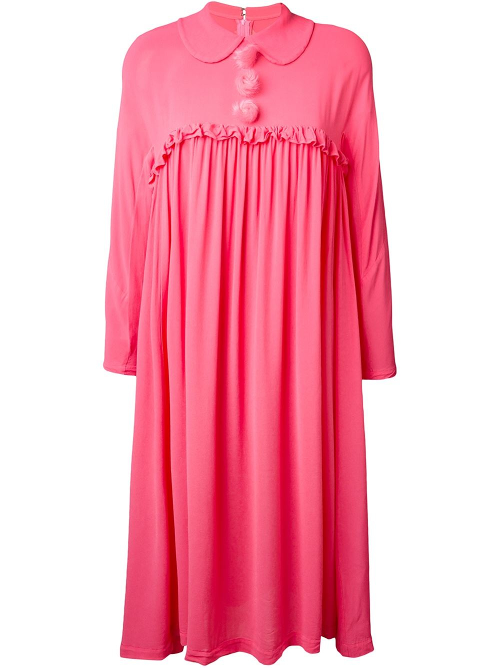 Lyst Comme Des Gar 231 Ons Gathered Shirt Dress In Pink