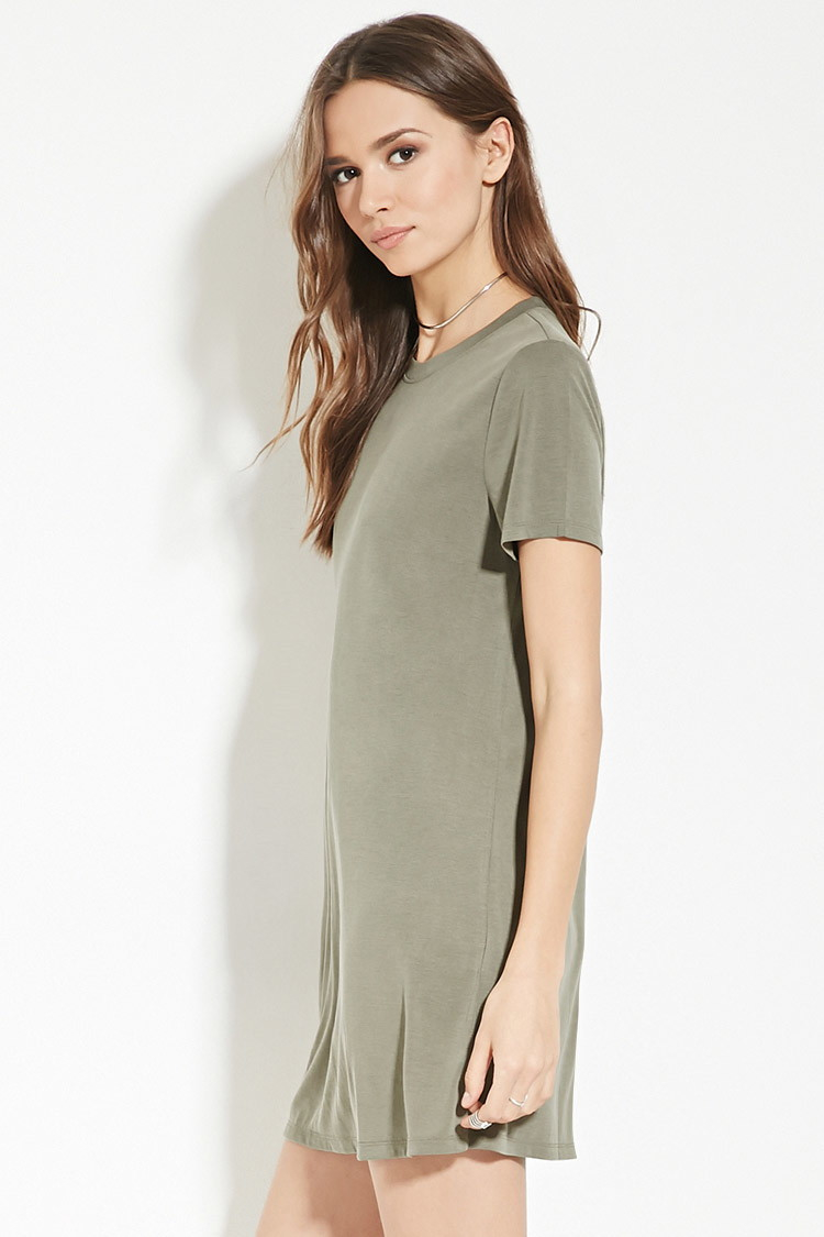 Lyst Forever 21 Contemporary T Shirt Dress In Green