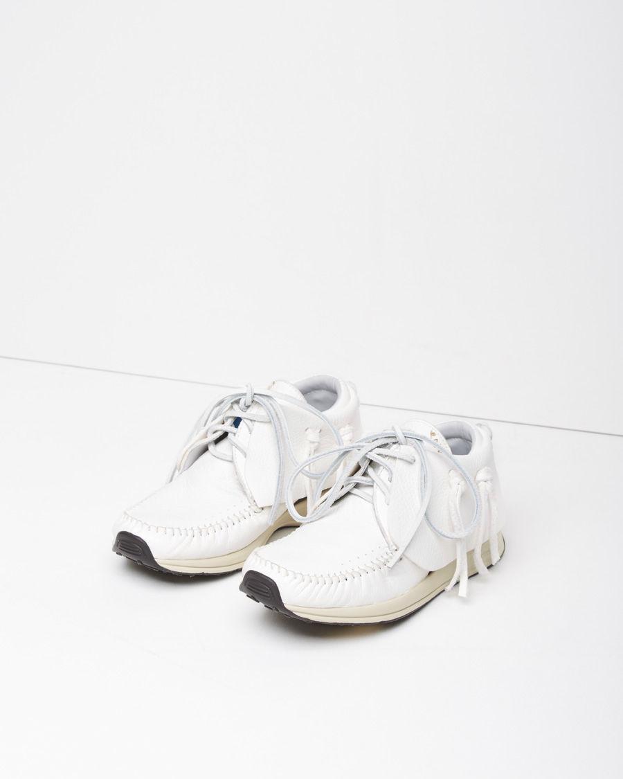 visvim elk moccasin boots in white lyst
