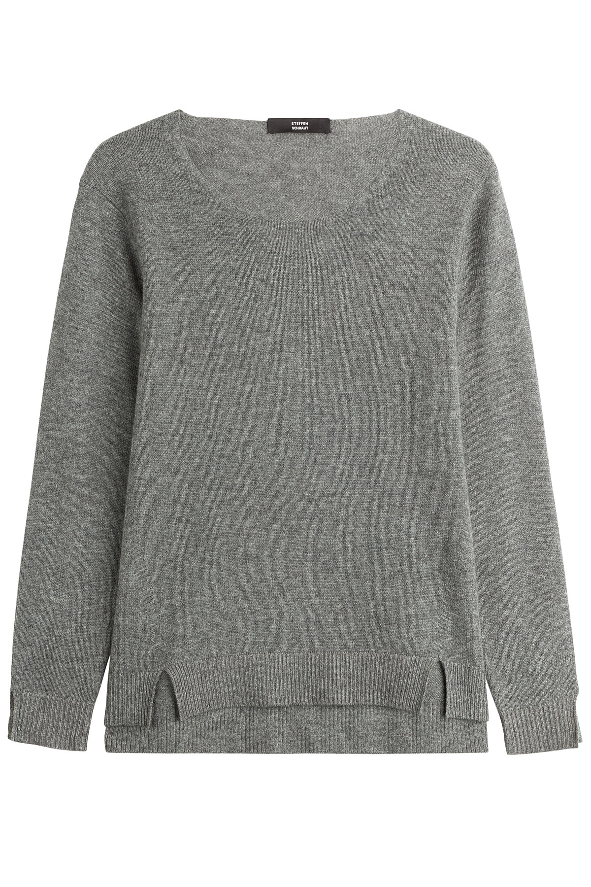 steffen schraut essential cashmere pullover grey in gray lyst. Black Bedroom Furniture Sets. Home Design Ideas