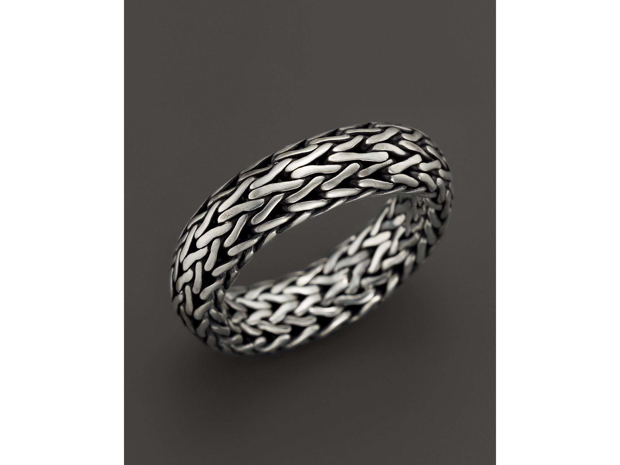 Lyst John Hardy Men S Classic Chain Sterling Silver Band Ring In Metallic For Men