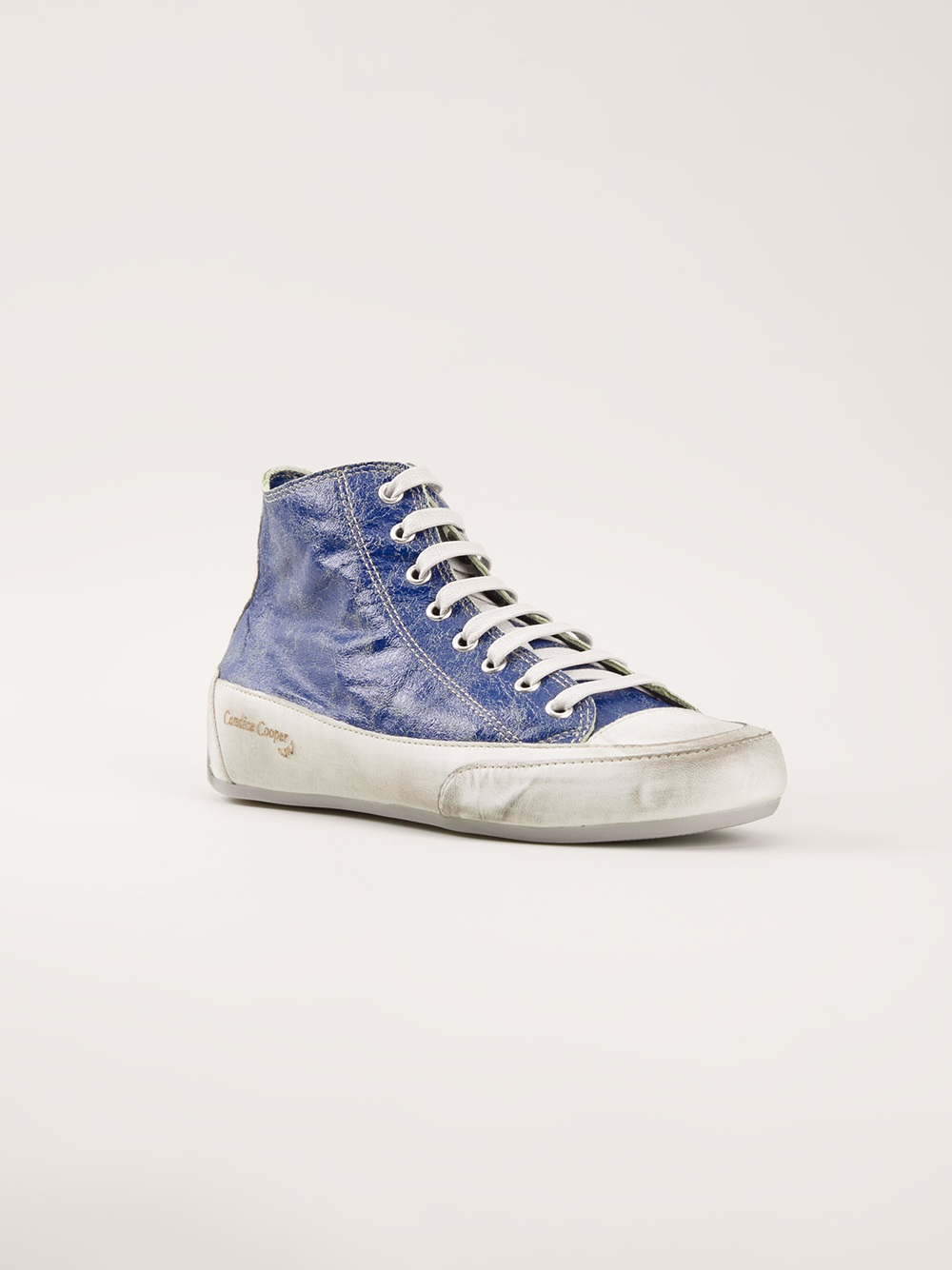 candice cooper cracked paint sneakers in blue lyst. Black Bedroom Furniture Sets. Home Design Ideas