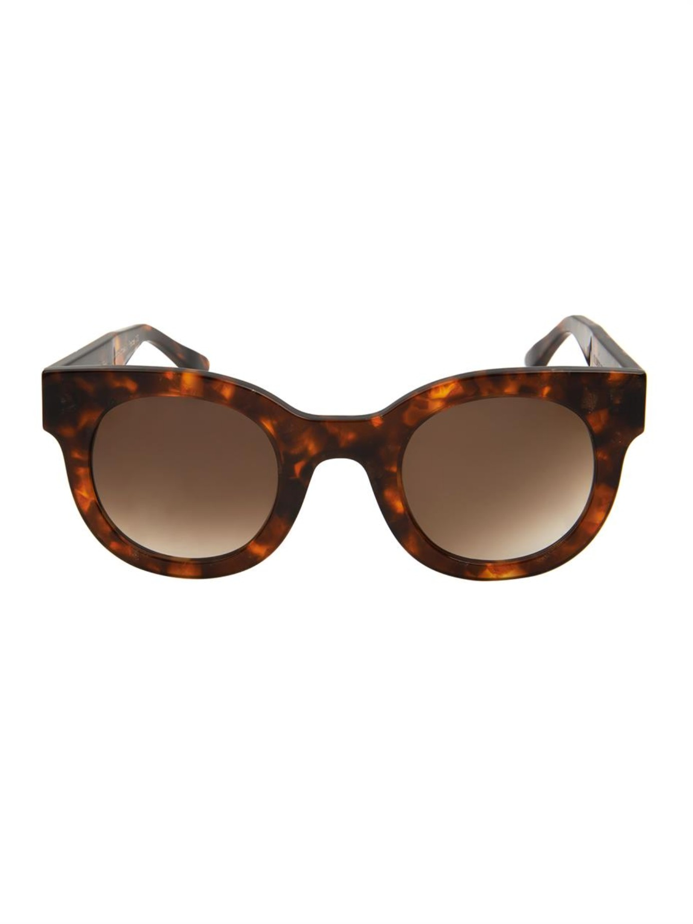 152ffb2858d Thierry Lasry Celebrity Round-Framed Sunglasses in Brown - Lyst