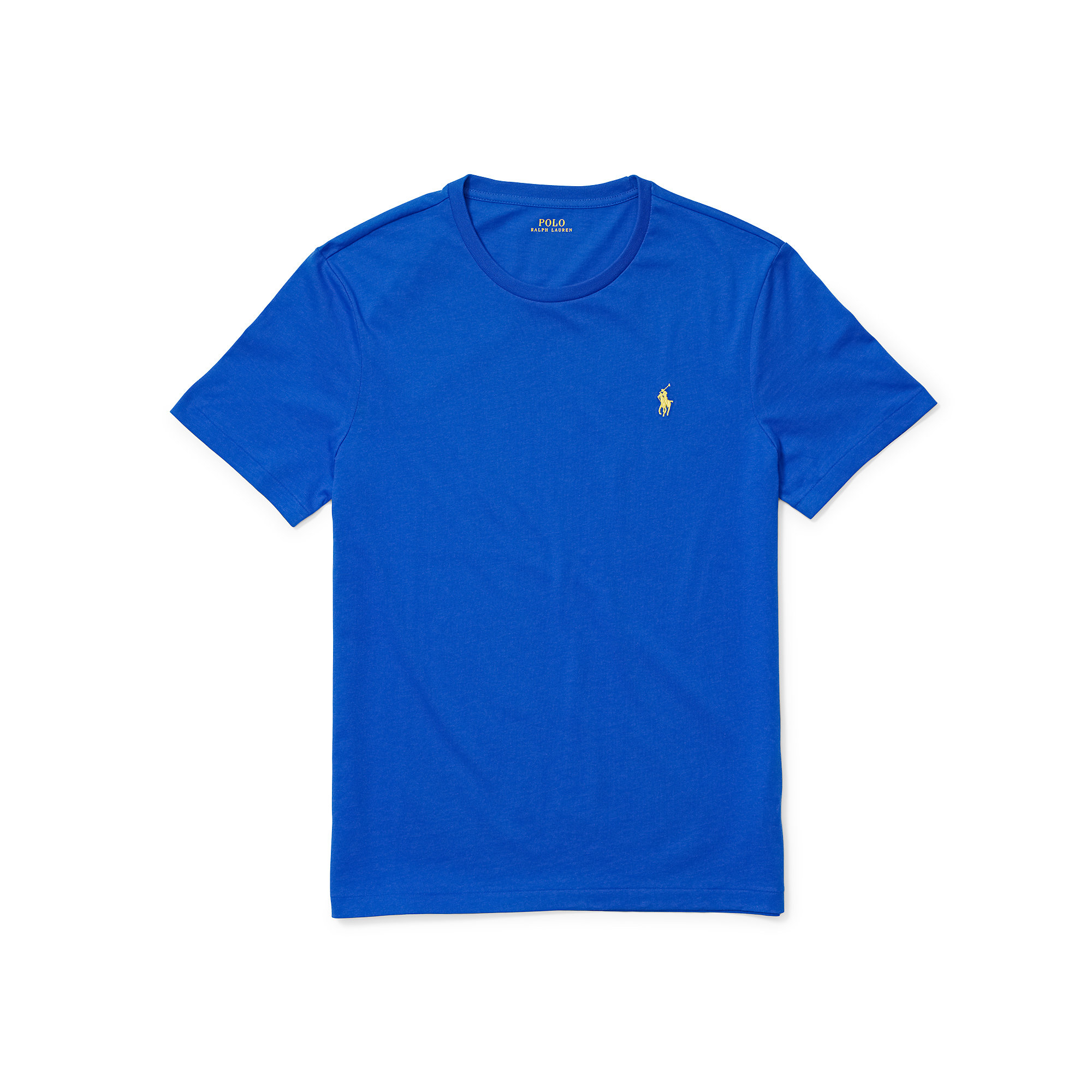 Polo ralph lauren custom fit cotton t shirt in blue for for Polo custom fit t shirts
