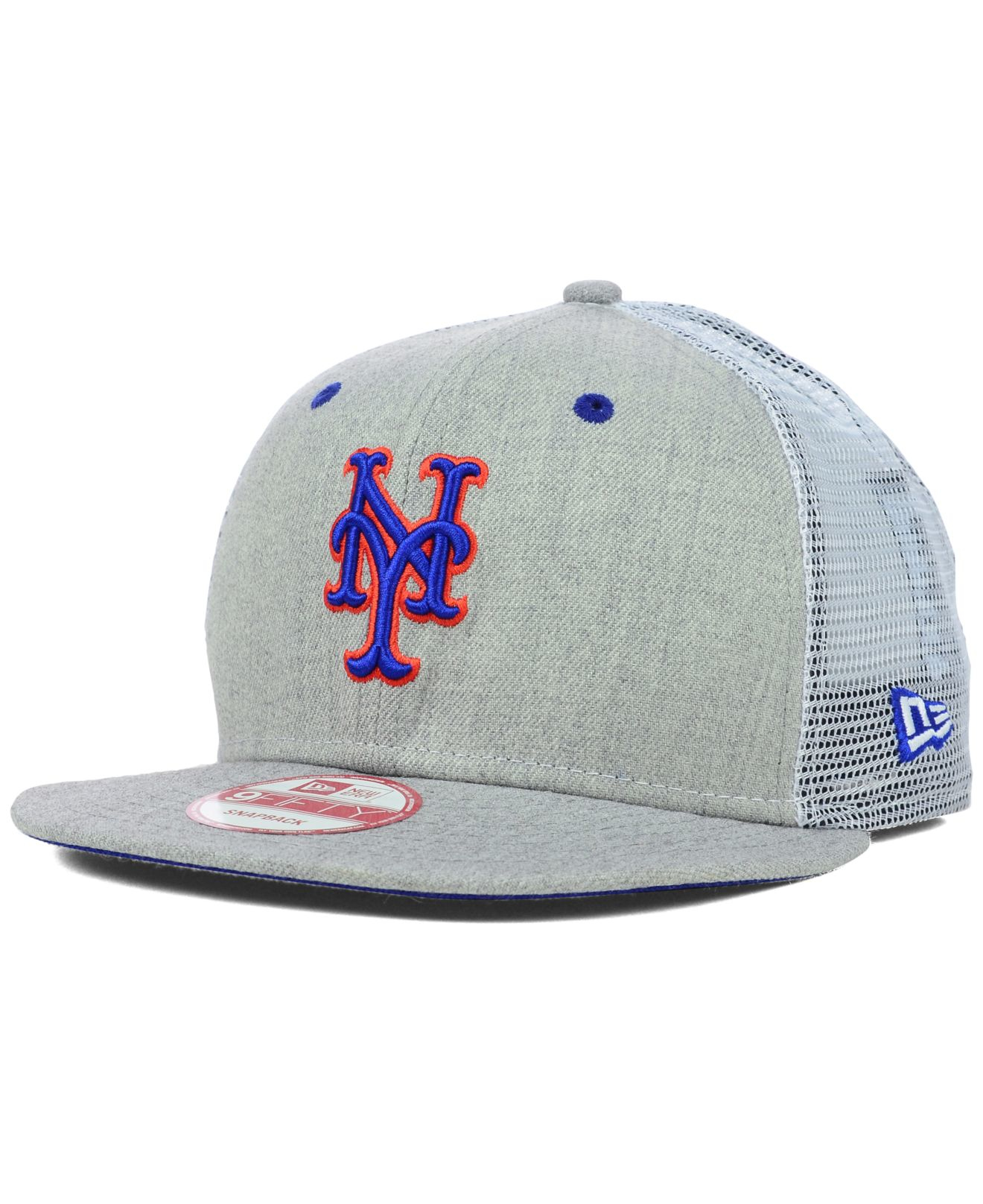 buy popular 103d5 5a3a3 ... italy lyst ktz new york mets heather trucker 9fifty snapback cap in  gray 790ed 378bd