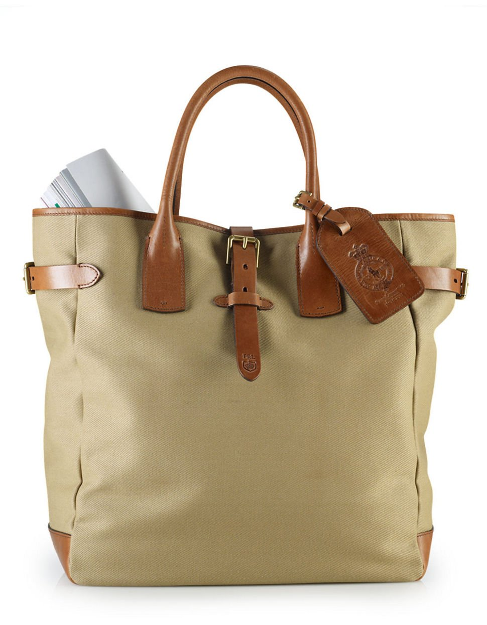 5caff07b6d ... ireland polo ralph lauren canvas tote bag in natural for men lyst dc92d  5f357