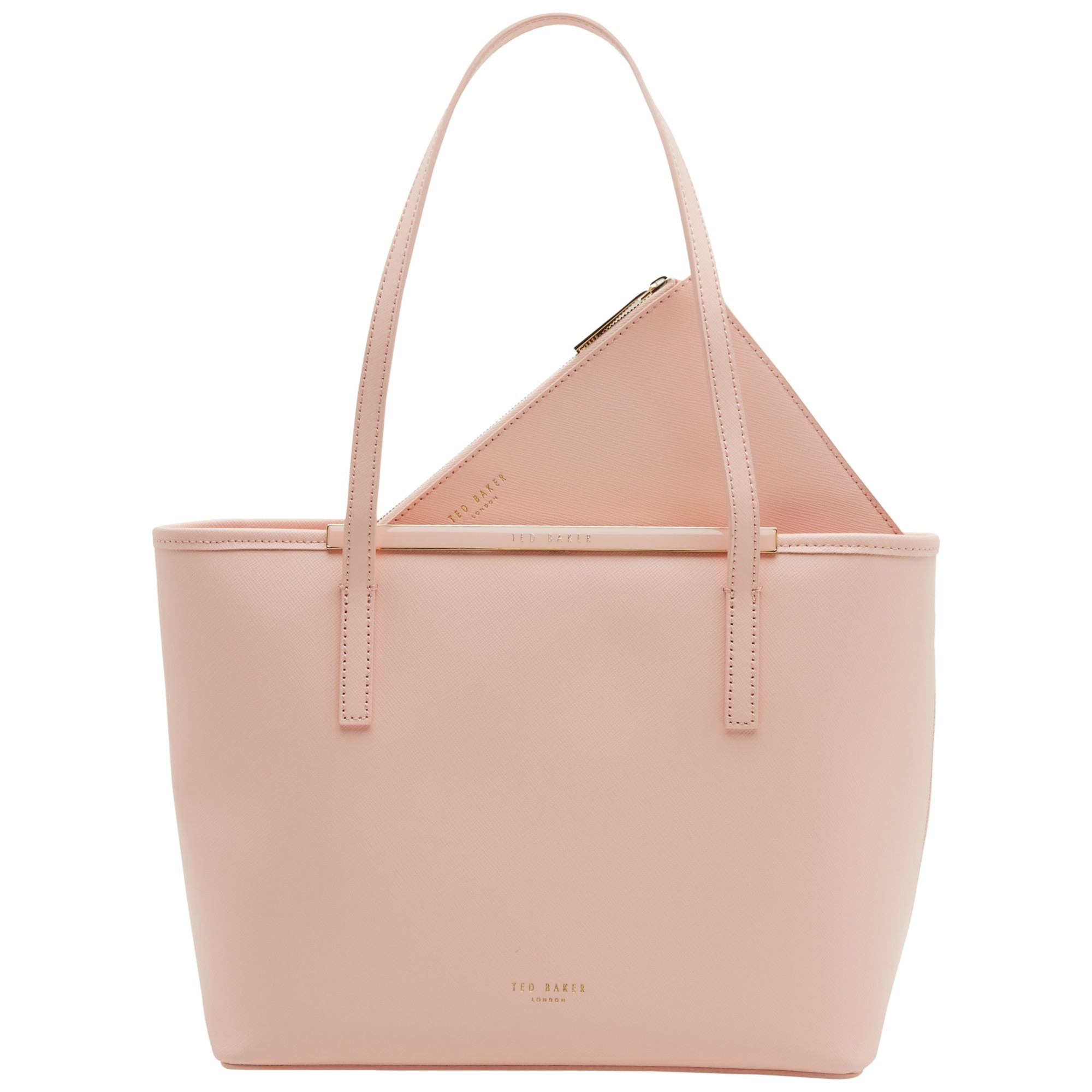 f344455f845095 Ted Baker Ammber Small Crosshatch Leather Shopper Bag in Pink - Lyst