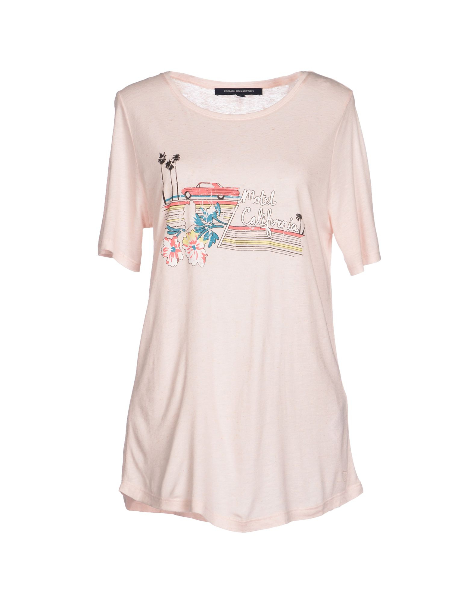French Connection T Shirt In Pink Lyst