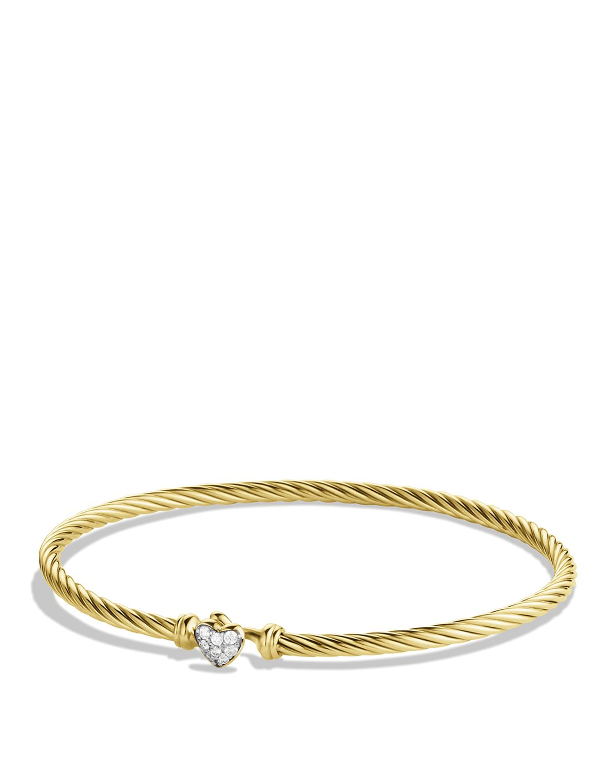 David Yurman Cable Collectibles Heart Bracelet With