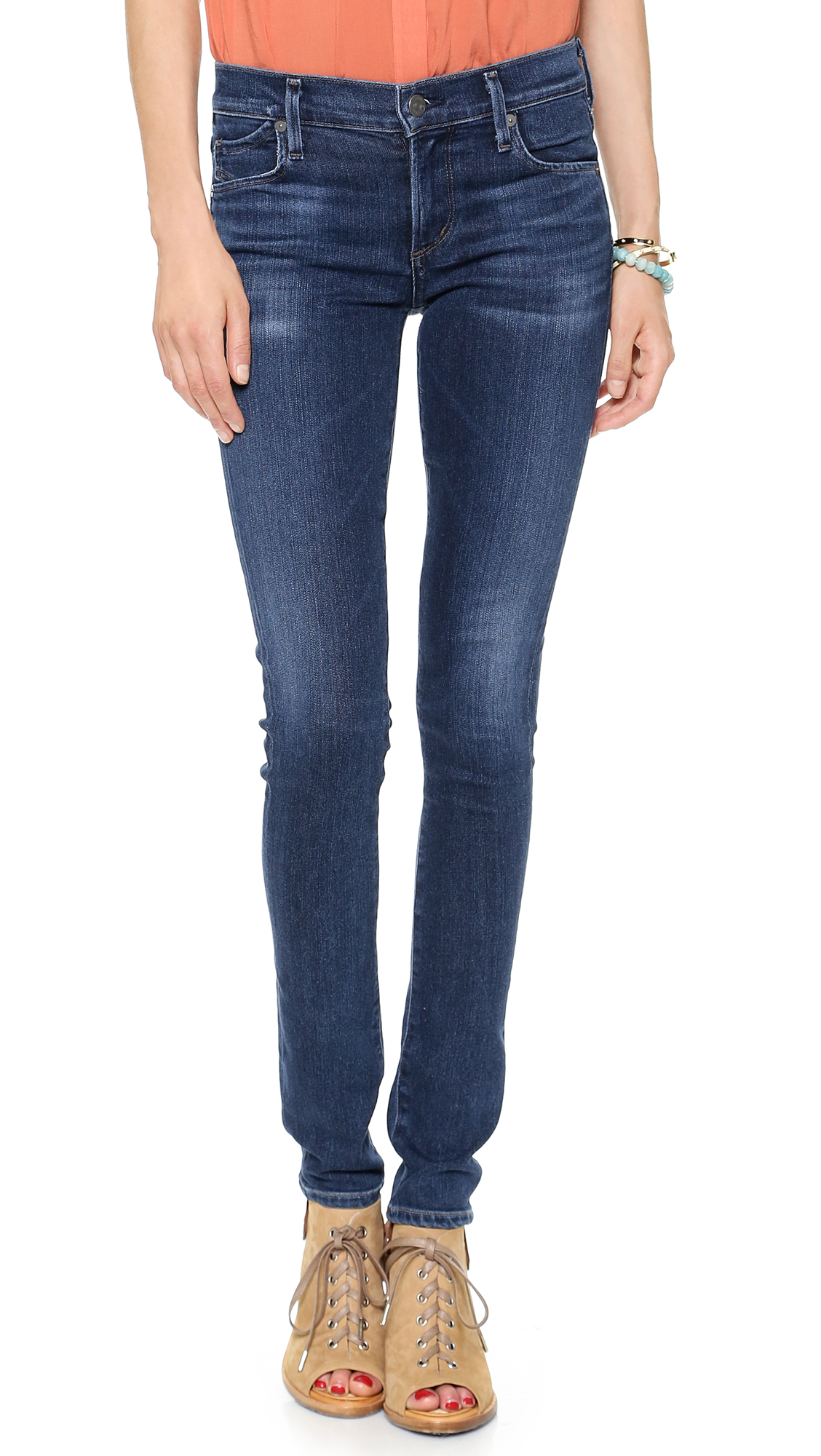 citizens of humanity avedon skinny jeans cruz in blue cruz lyst. Black Bedroom Furniture Sets. Home Design Ideas