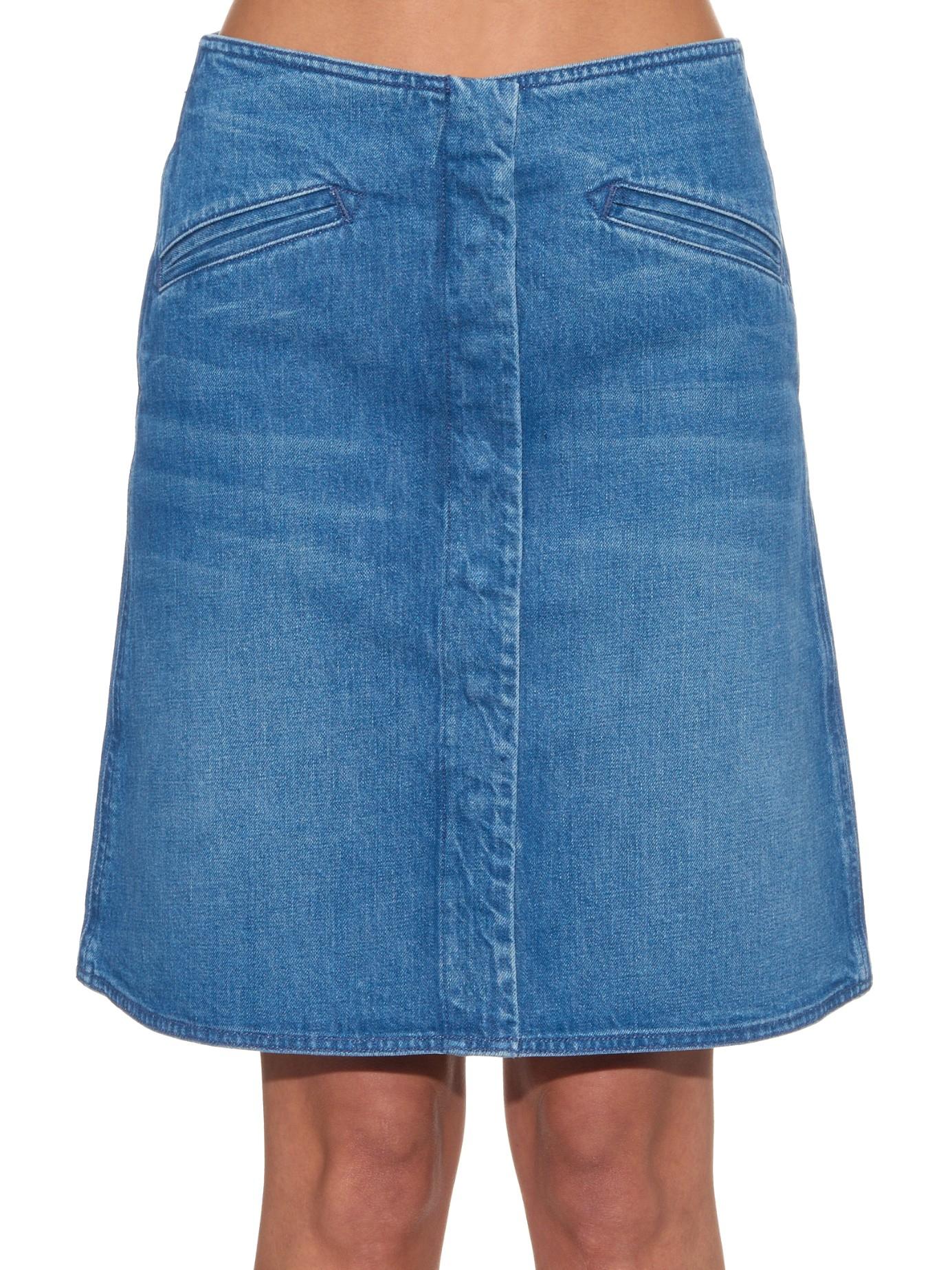 M.i.h jeans The Bodiam Denim Skirt in Blue | Lyst