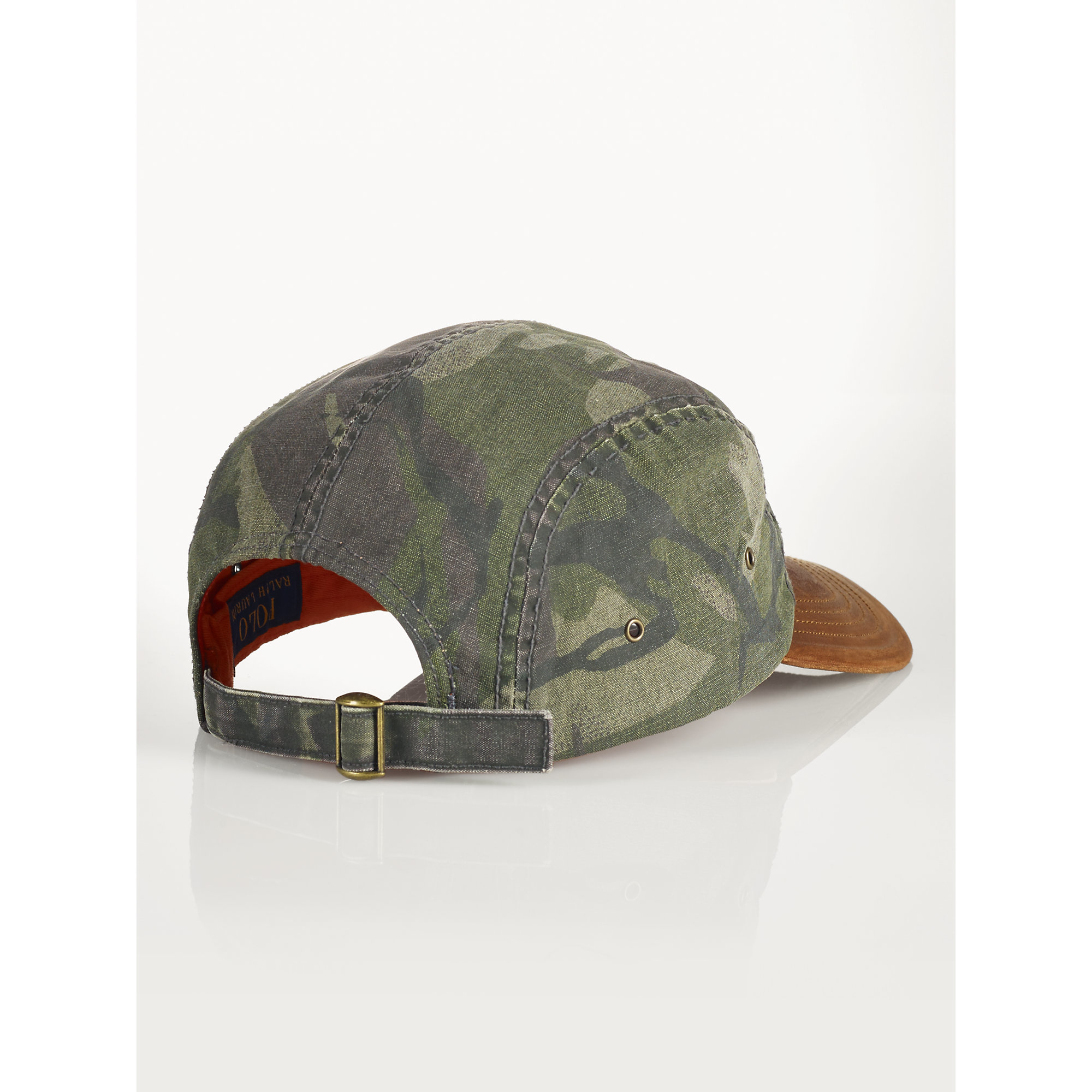 Polo Ralph Lauren | Green Oilcloth And Leather Cap for Men | Lyst