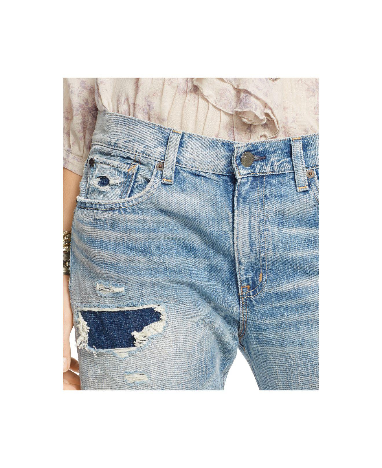 f8d78bc58 Denim & Supply Ralph Lauren Pike Distressed Boyfriend Jeans in Blue ...