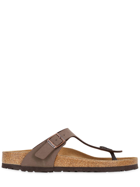 birkenstock gizeh leather thong sandals in brown lyst. Black Bedroom Furniture Sets. Home Design Ideas