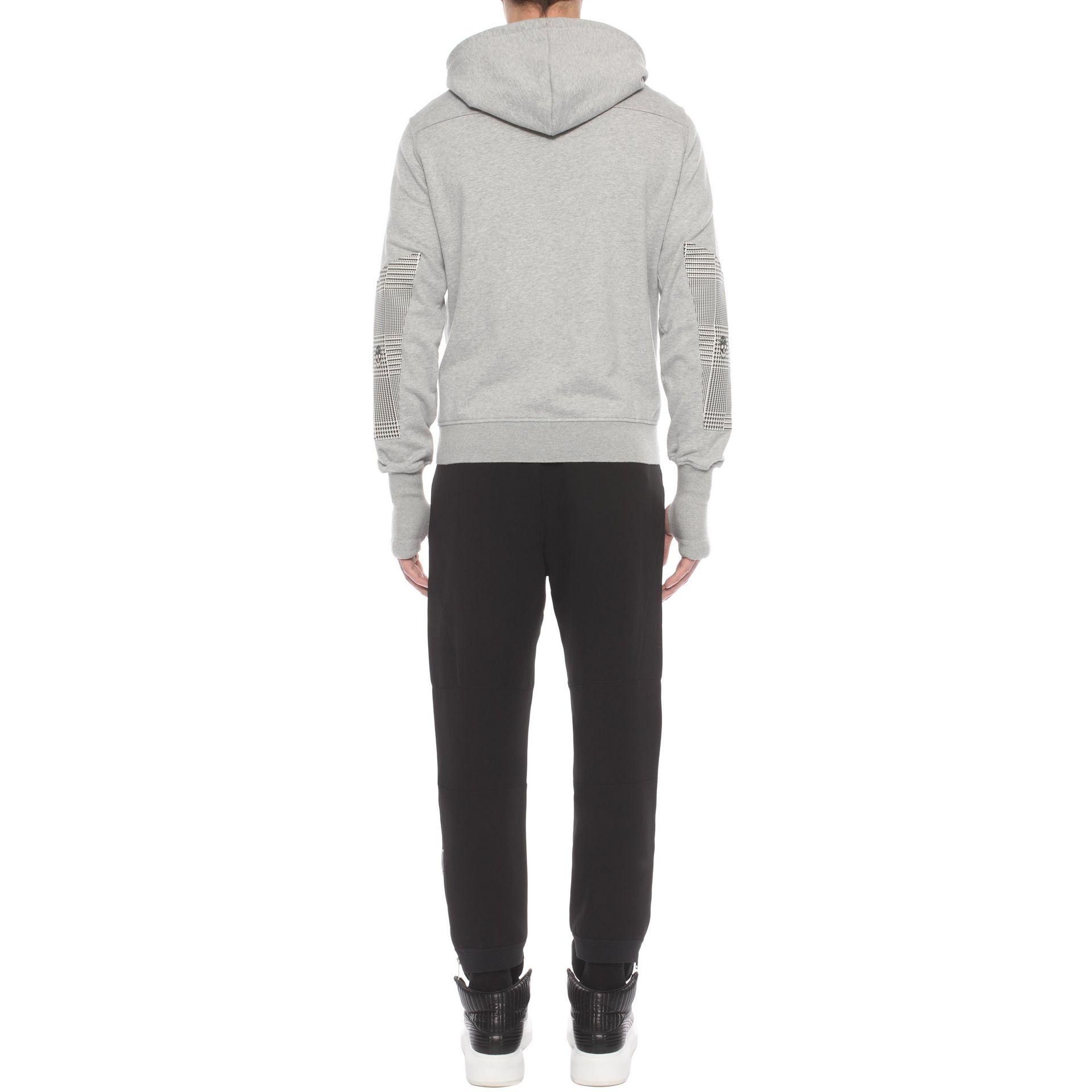 lyst alexander mcqueen printed cotton sweatshirt grey in gray for men. Black Bedroom Furniture Sets. Home Design Ideas