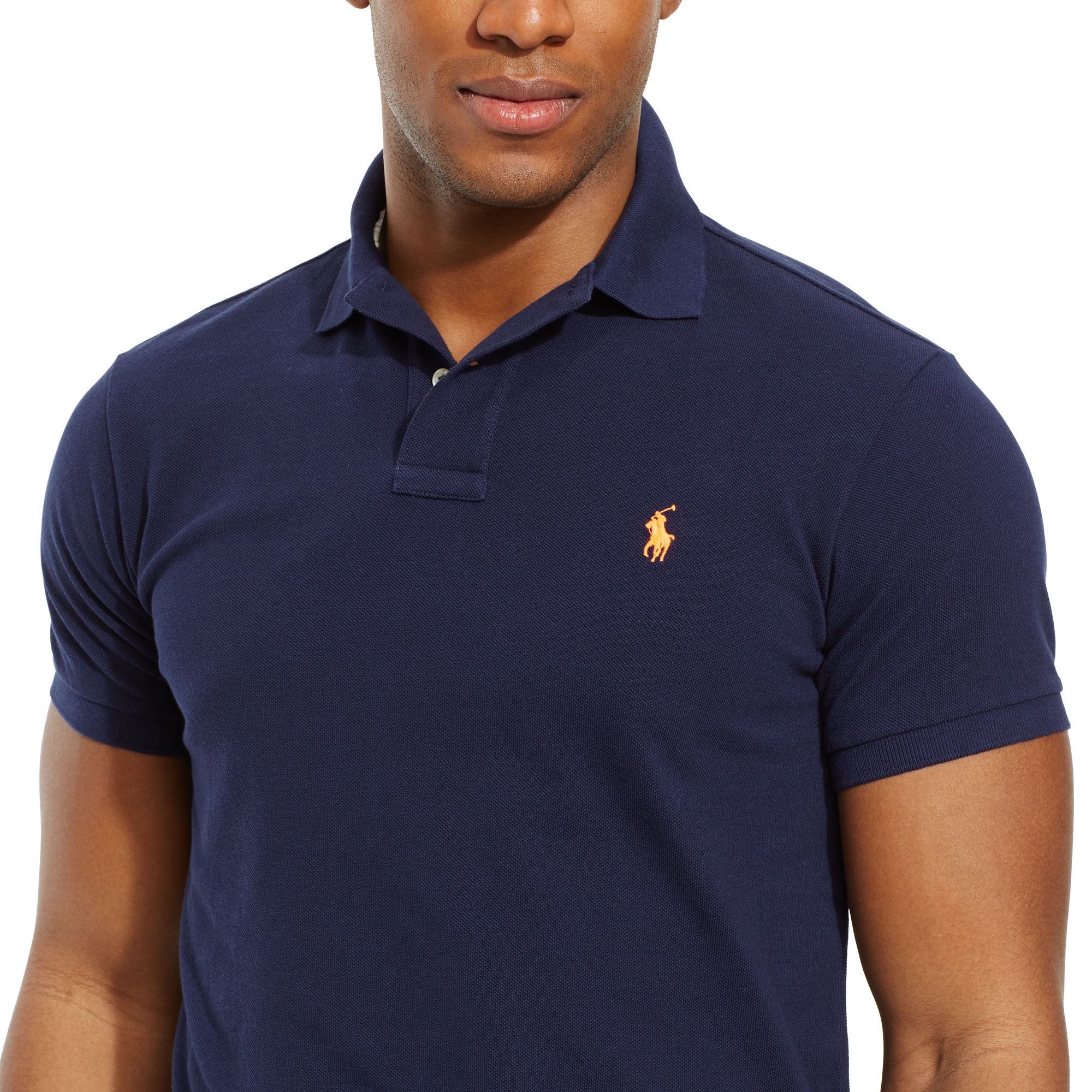 Polo Ralph Lauren Custom-fit Mesh Polo Shirt in Blue for Men - Lyst 5783e406e