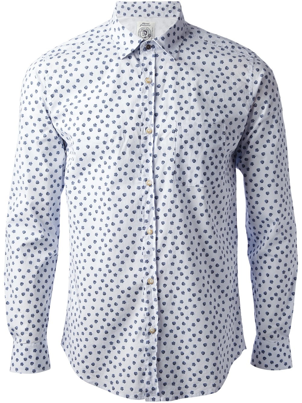 Diesel Floral Print Shirt in White for Men | Lyst