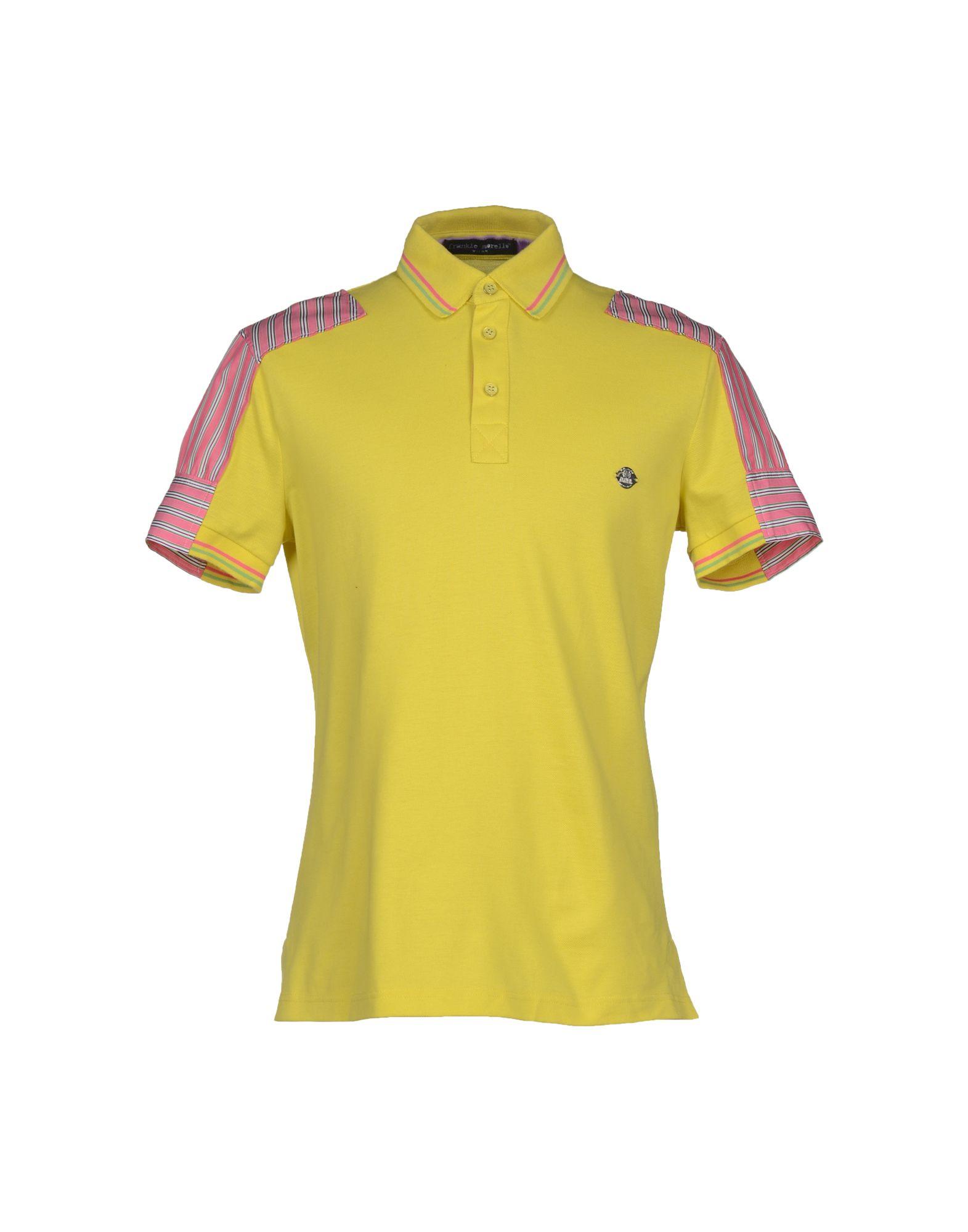 Frankie Morello Polo Shirt In Yellow For Men
