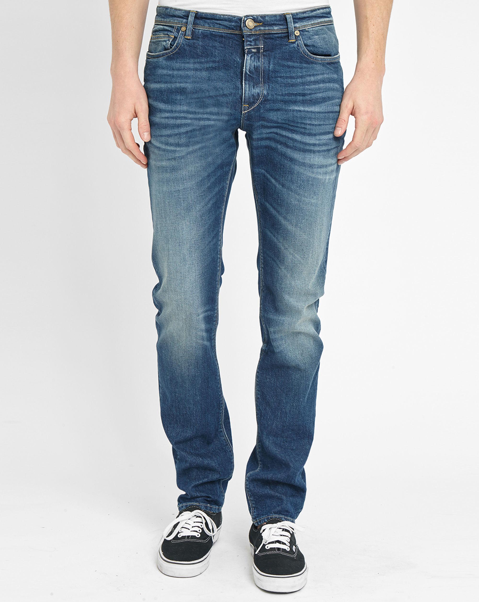 closed faded blue elastane slim fit jeans in blue for men lyst. Black Bedroom Furniture Sets. Home Design Ideas