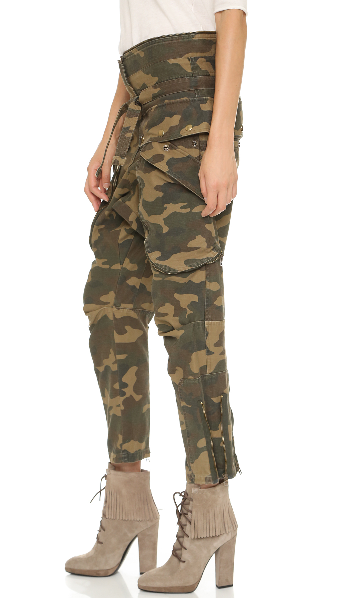 contrast waist camouflage trousers - Brown Faith Connexion Free Shipping High Quality Clearance For Cheap Shopping Online Cheap Price rQ37bh