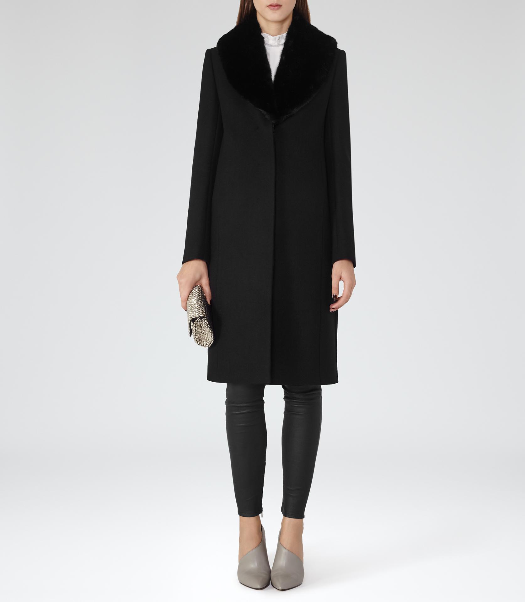 Reiss long black coat