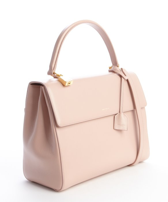 Saint laurent Blush Pink Leather Medium 'Moujik' Convertible Bag ...
