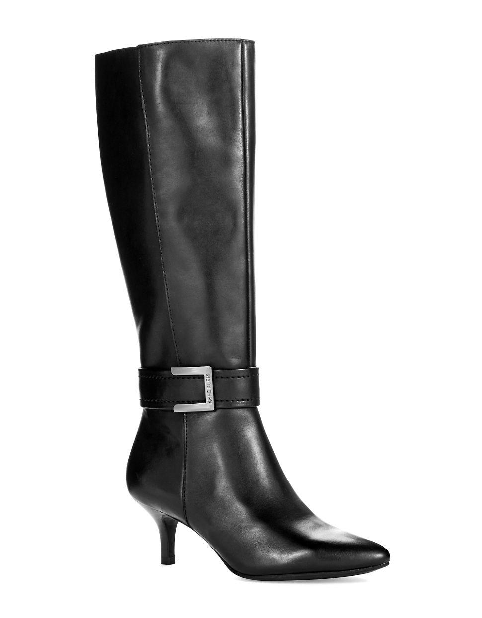 klein cuthbert kitten heel boots in black lyst