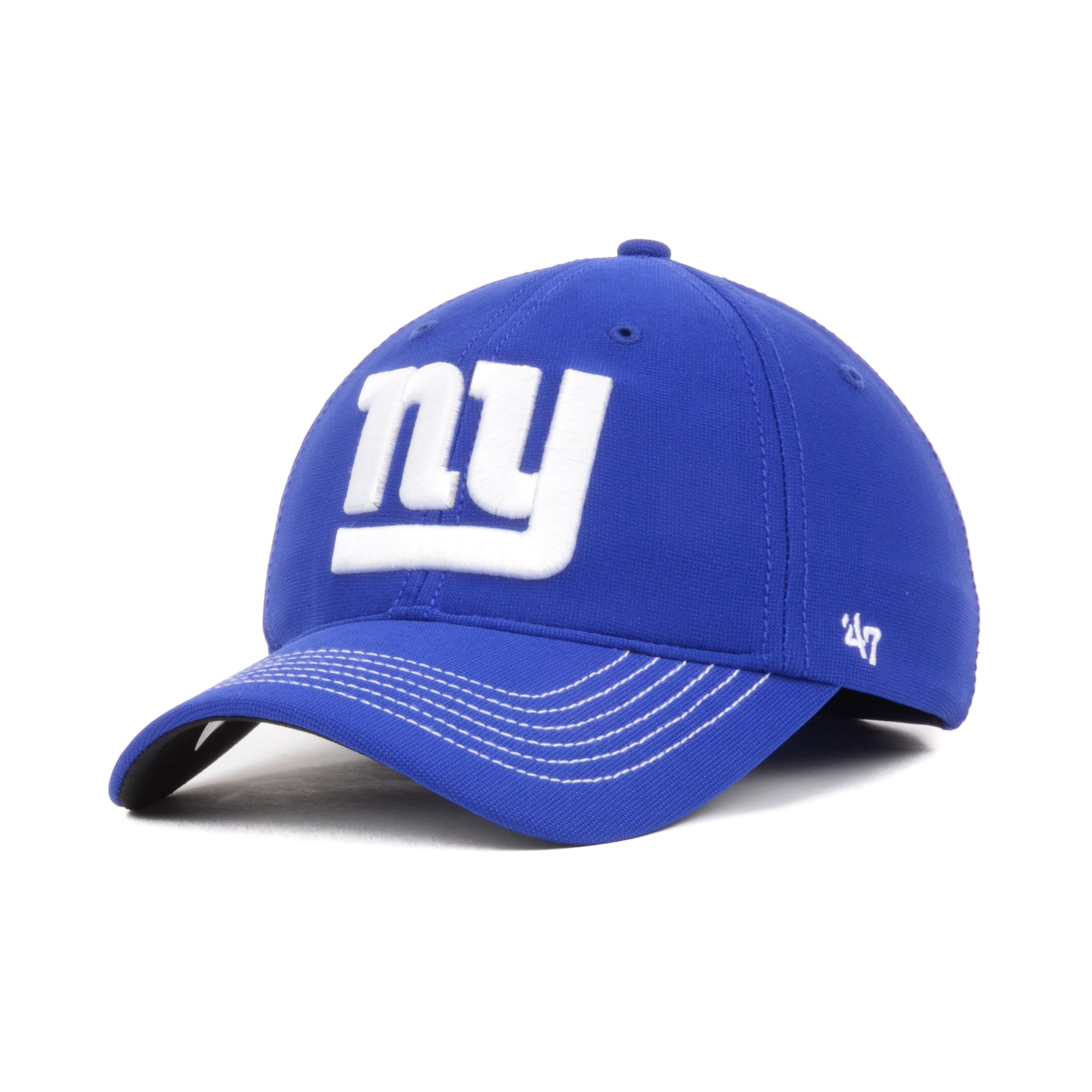 47 brand new york giants game time closer cap in blue for. Black Bedroom Furniture Sets. Home Design Ideas