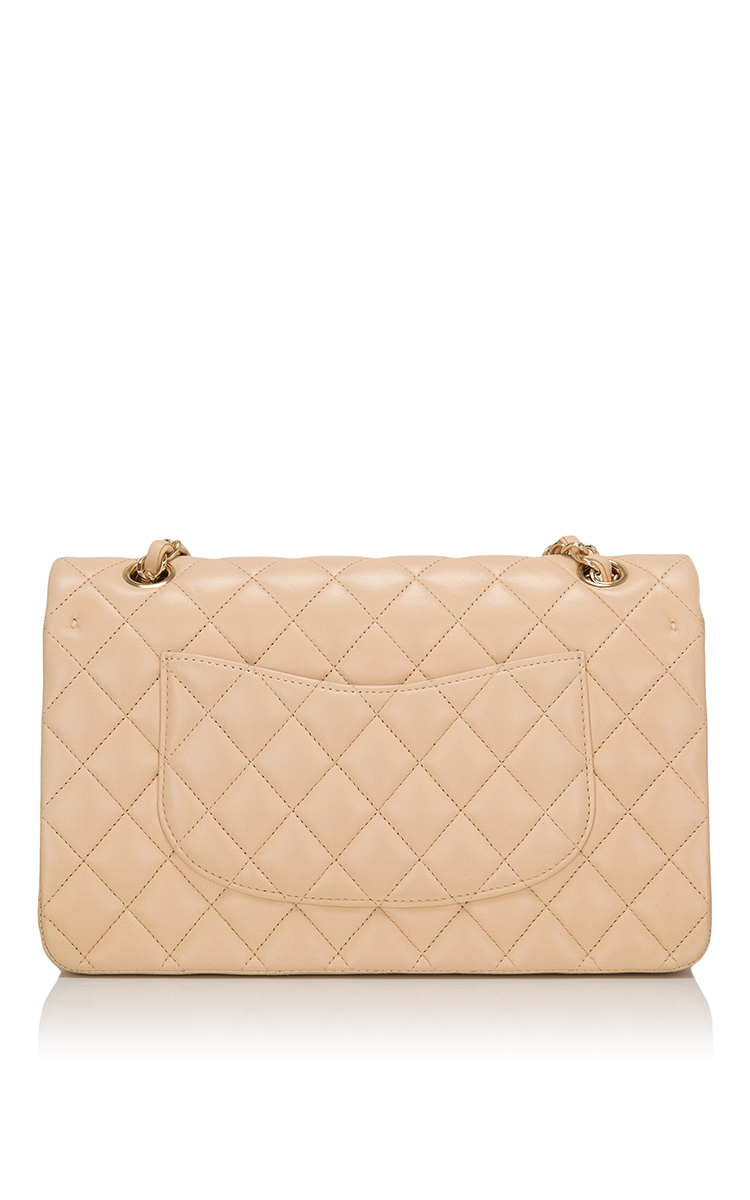 c246eea960dd Lyst - Madison Avenue Couture Chanel Beige Quilted Lambskin Large ...