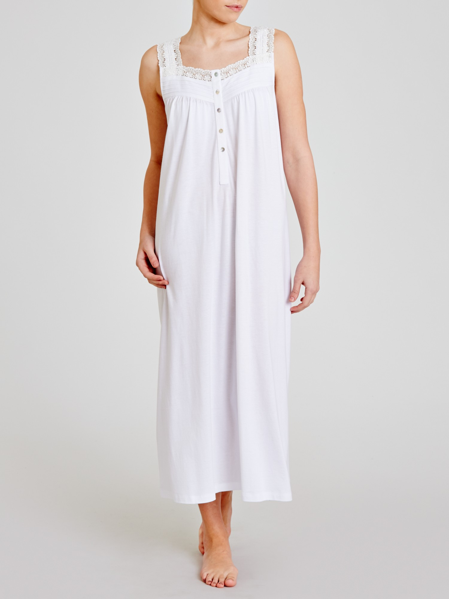 e2764e466b John Lewis Jersey Long Nightdress in White - Lyst