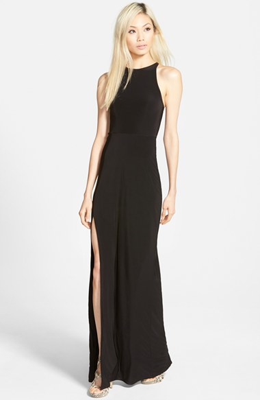Lyst Missguided Nora High Neck Maxi Dress In Black
