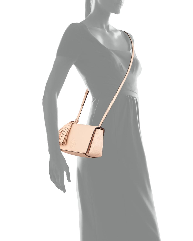 2ddf8e69645 Tory Burch Thea Mini Leather Cross-Body Bag in Pink - Lyst