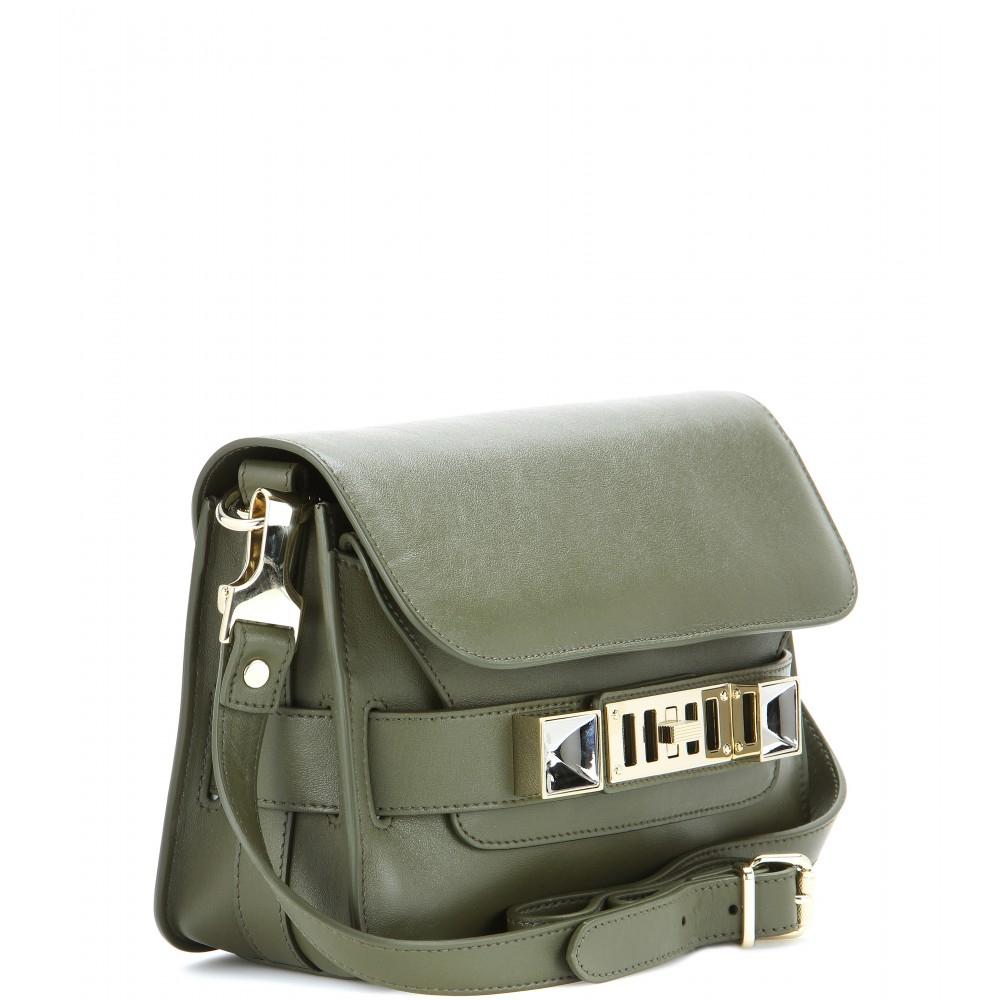 1f4866d6fd48 Lyst - Proenza Schouler PS11 Mini Classic Leather Shoulder Bag in Green