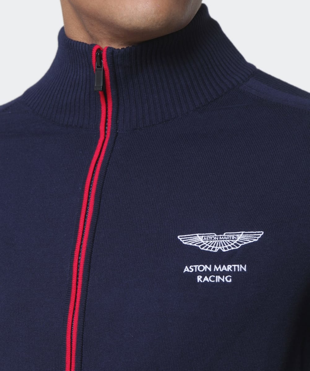 Lyst Hackett Aston Martin Racing Jersey Jacket In Blue For Men