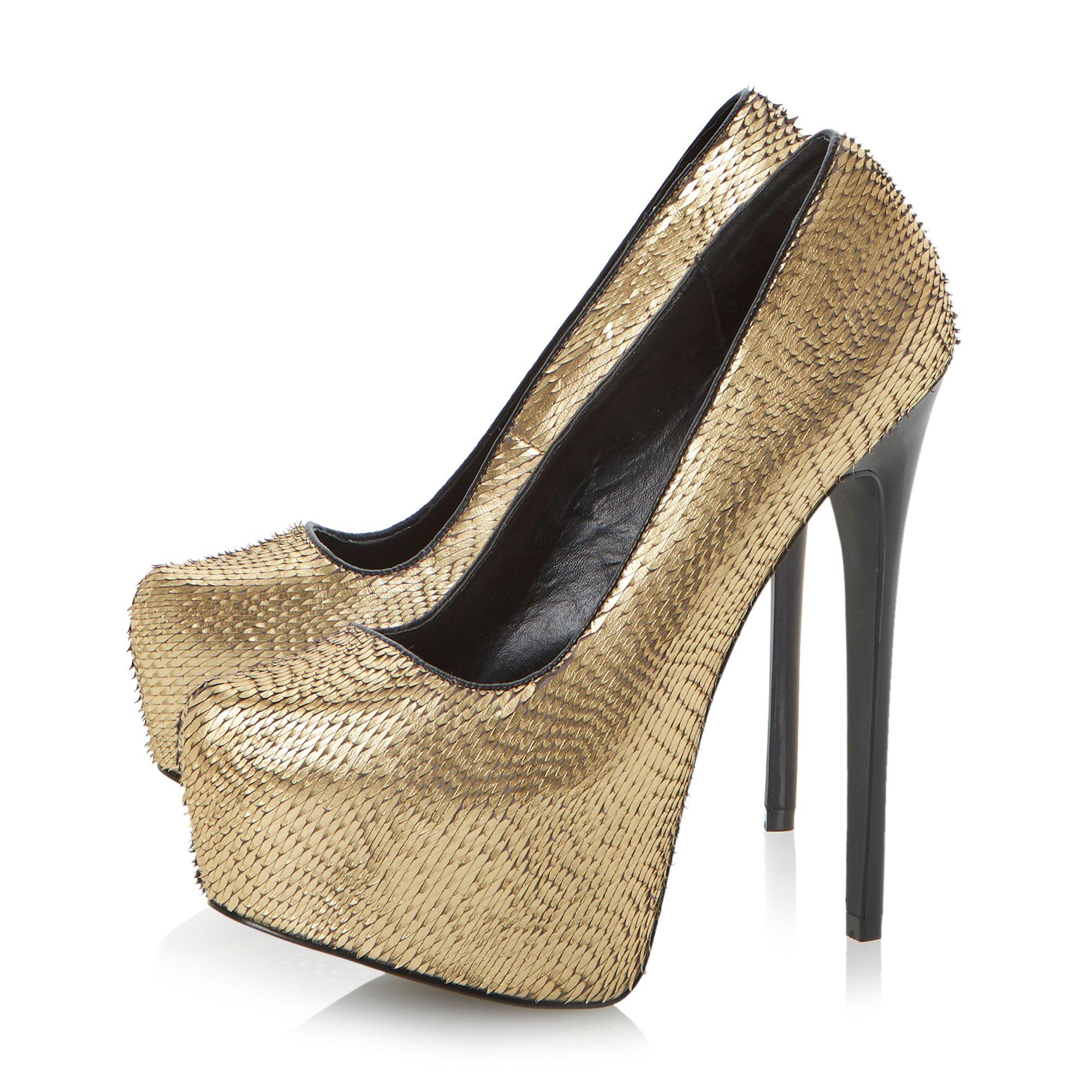 metallic gold platform heels is heel. Black Bedroom Furniture Sets. Home Design Ideas