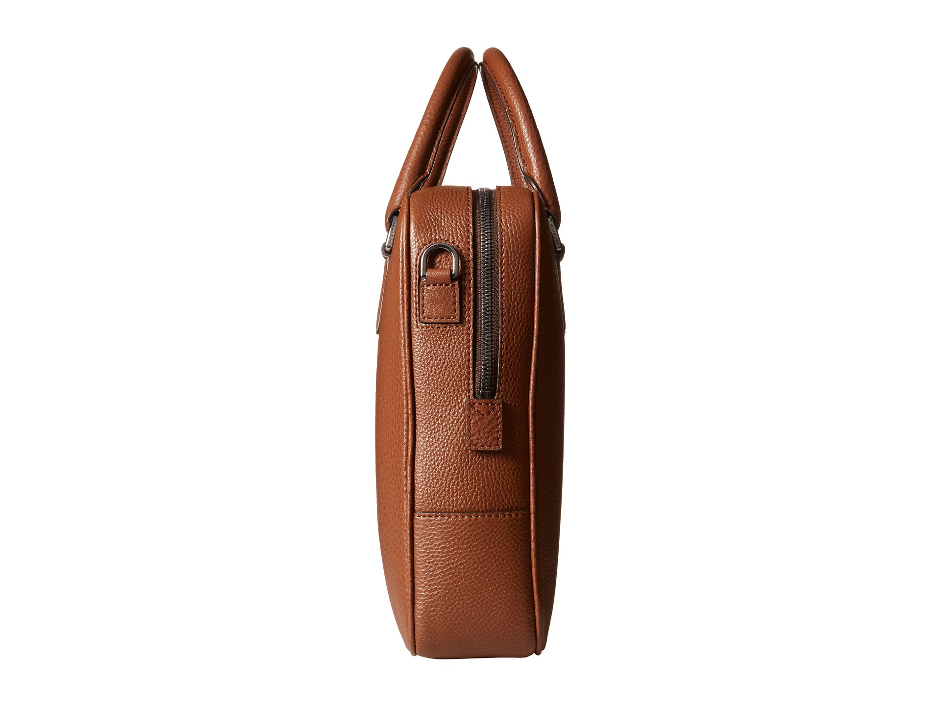 1d88abd517fb Michael Kors Bryant Pebble Leather Large Briefcase in Brown for Men ...
