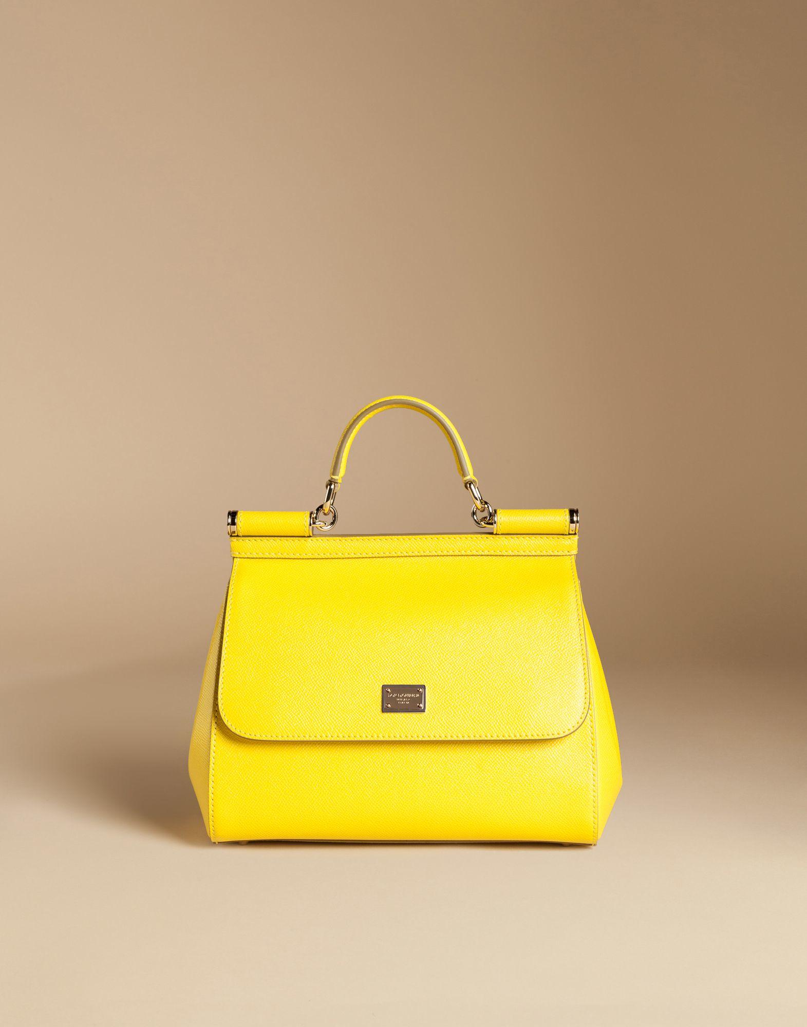 Gallery. Women s Leather Handbags Women s Yellow Handbags Women s Dolce  Gabbana Sicily Women s Camera ... b53279d4e4dbc