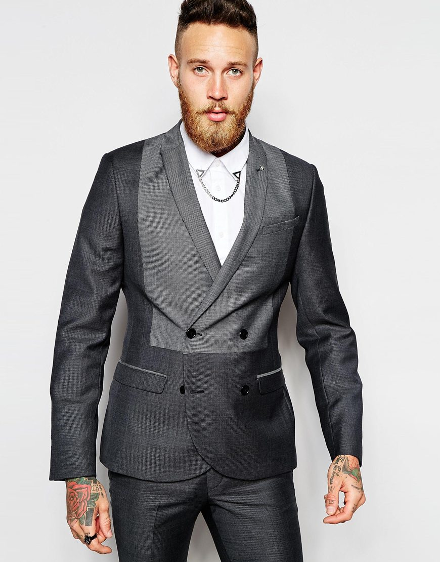 Noose and monkey Religion X Double Breasted Suit Jacket With Tonal ...