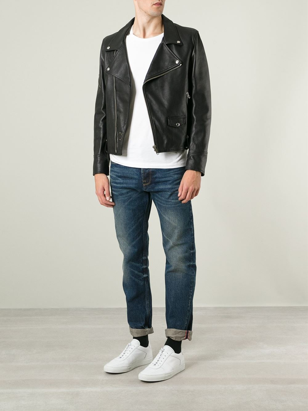 Lyst Golden Goose Deluxe Brand Classic Biker Jacket In Black For Men