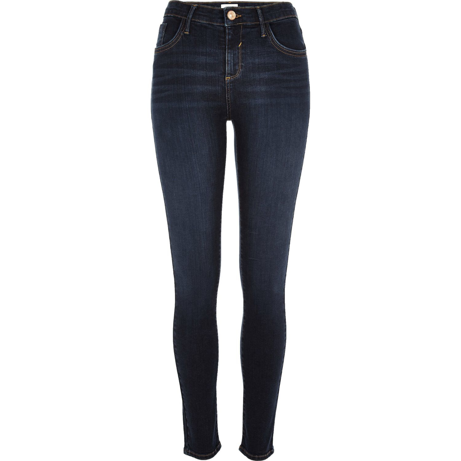 River Island Dark Wash Amelie Superskinny Jeans In Blue Lyst