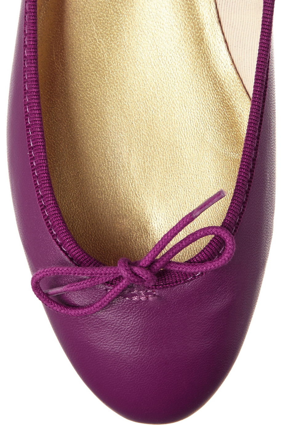 8775ae8bdb476 French Sole India Leather Ballet Flats in Purple - Lyst