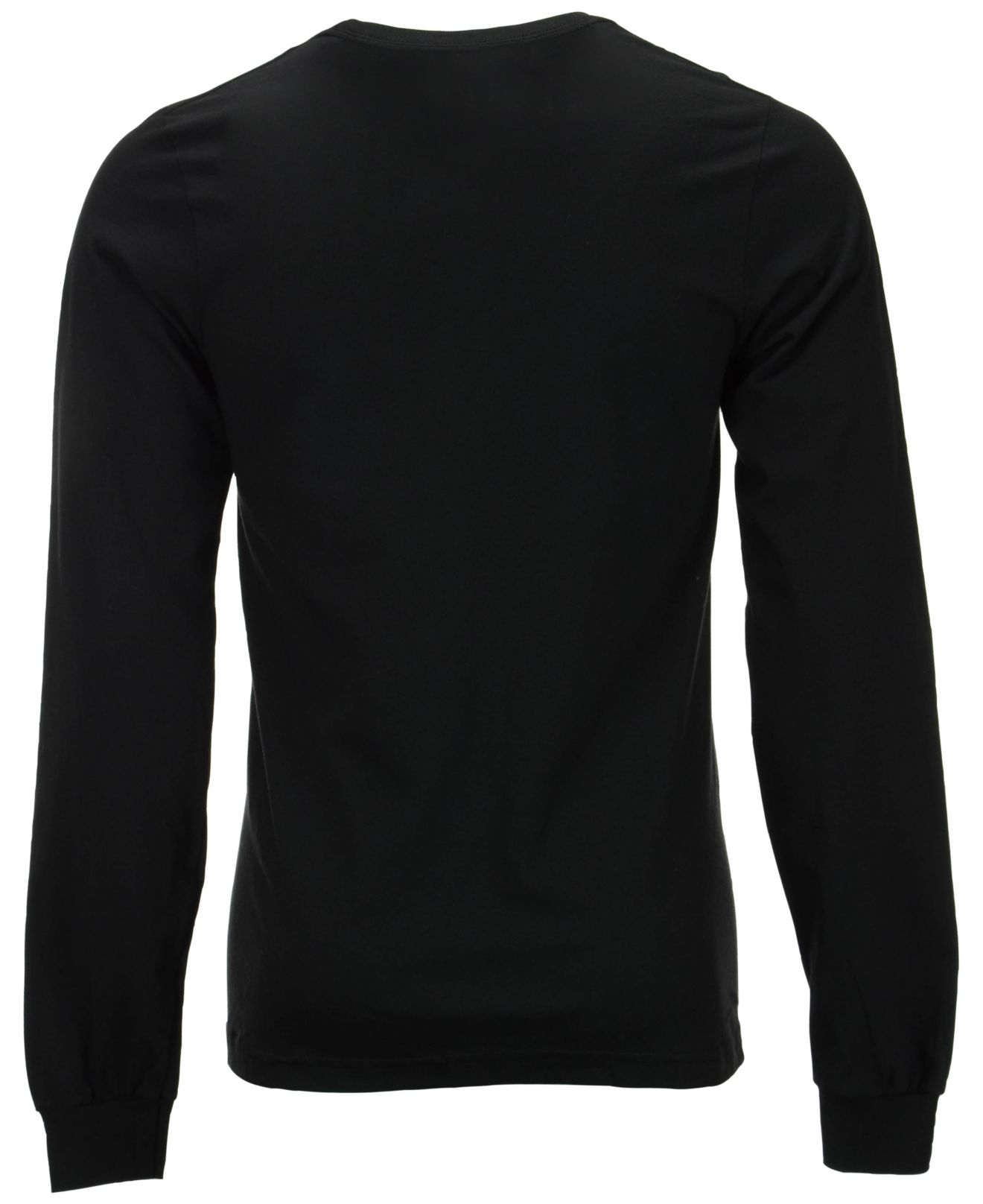 Lyst adidas men 39 s long sleeve portland trail blazers for Long sleeve black tee shirts