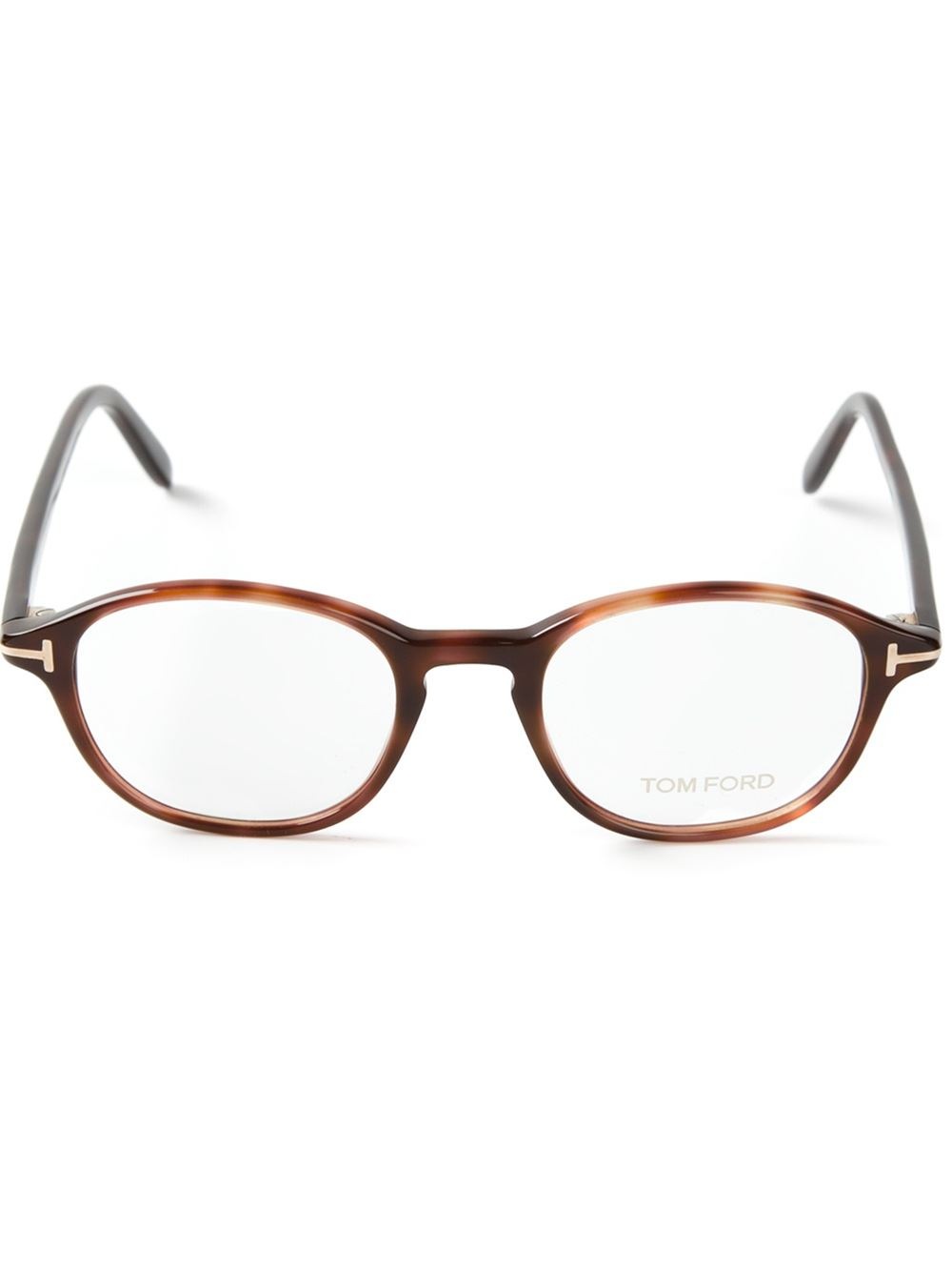 1a9047a2cab Lyst - Tom Ford Tortoise Shell Glasses in Brown