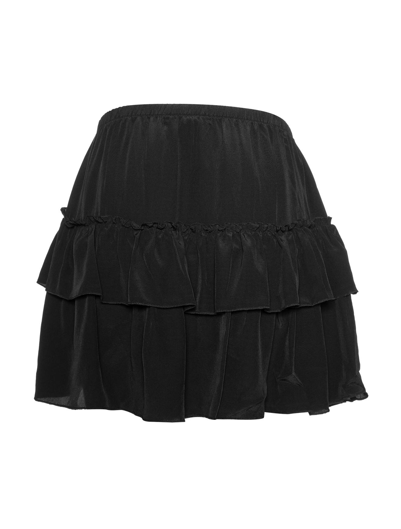 Silk ruffle skirt